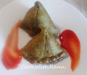 Whole Wheat Palak Samosa