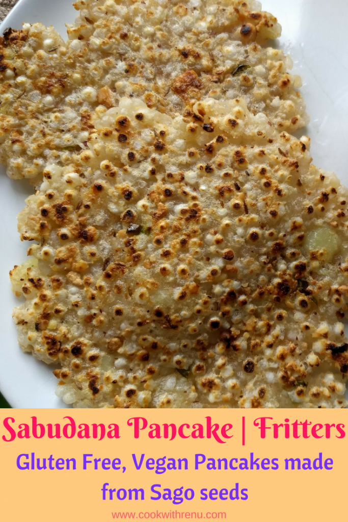 Sabudana Pancake aka Thalipeeth is a vegetarian and a gluten free guilt free pancake made using tapioca pearls and is perfect for Indian fasting season.