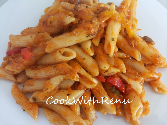 Butternut Squash Vegetable Pasta