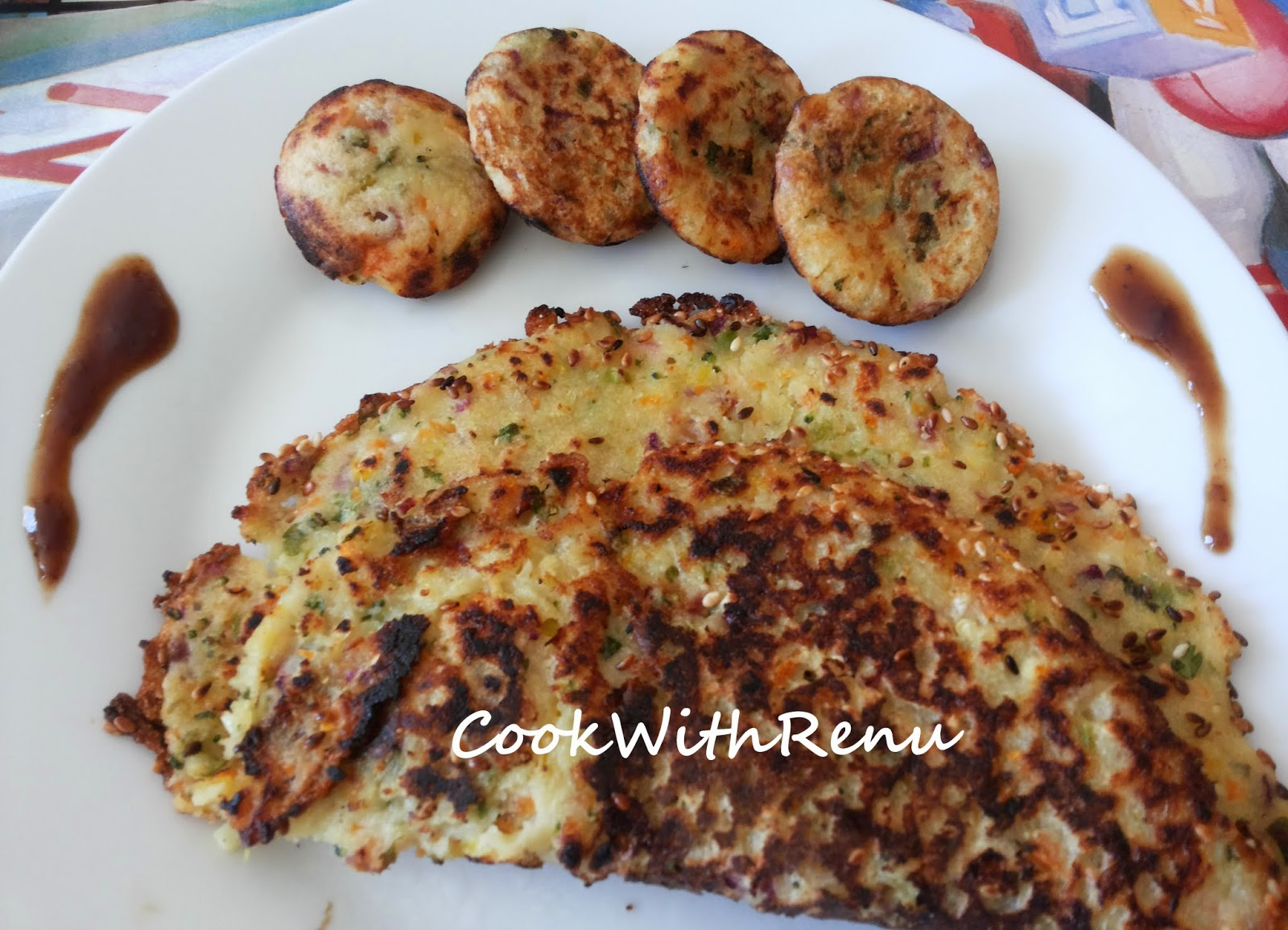 Vegetable Rava (Semolina) Pancake/Appe