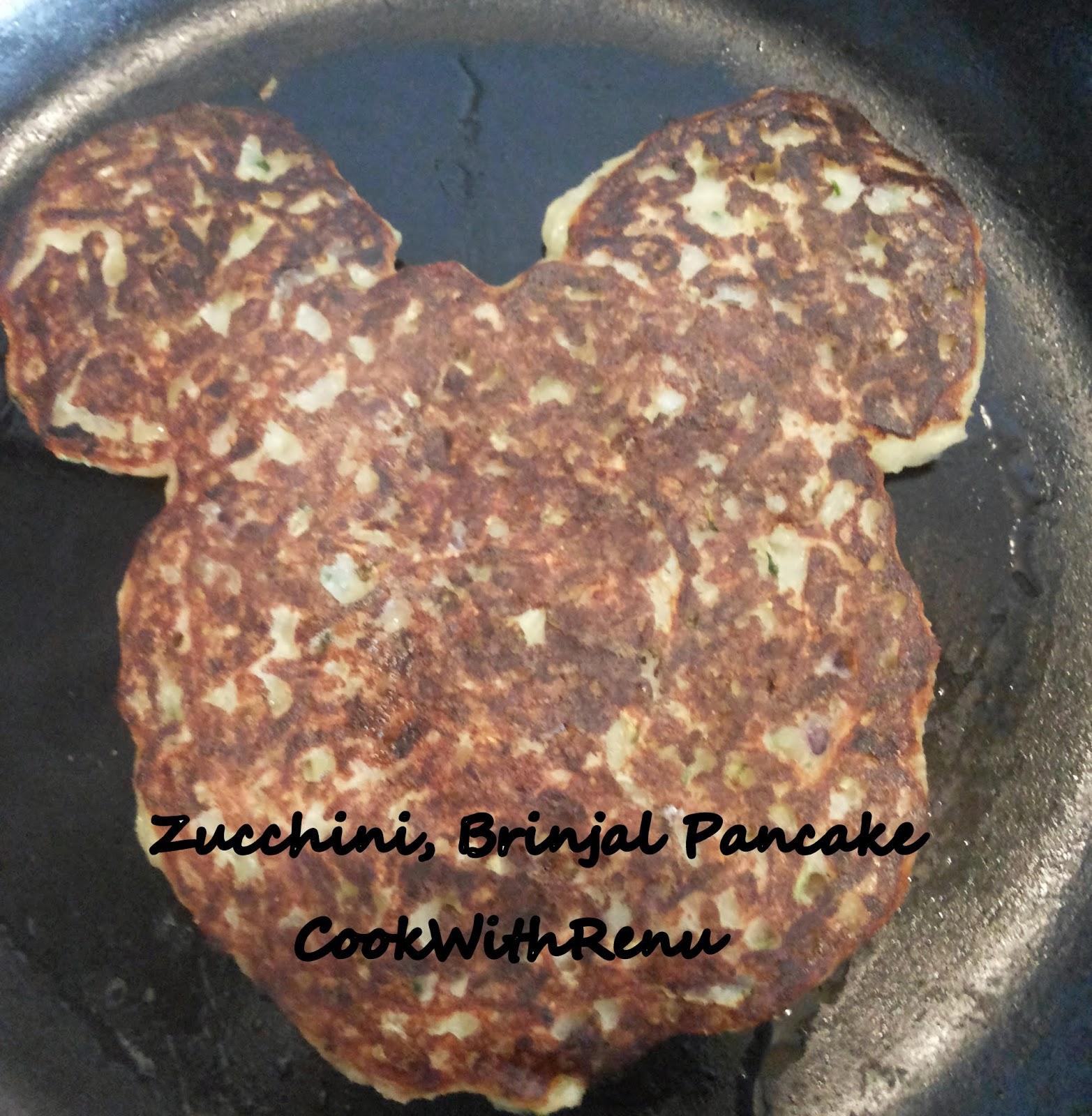 Zucchini, Brinjal Pancake