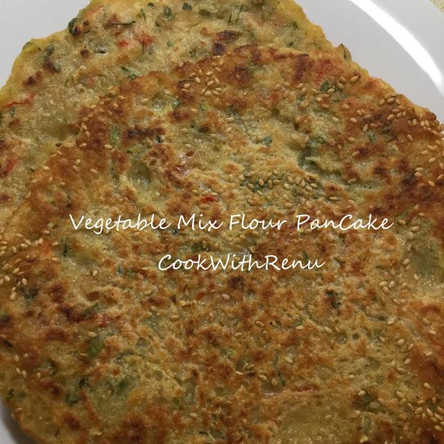Vegetable and Mix Flour (Rava(Semolina),Rice,Oats) Pancake