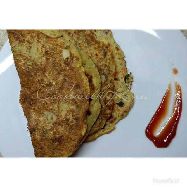 Left Over Dal Pancake