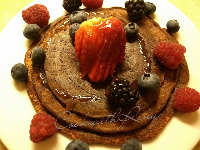 Whole Wheat Chocolate Banana PanCake