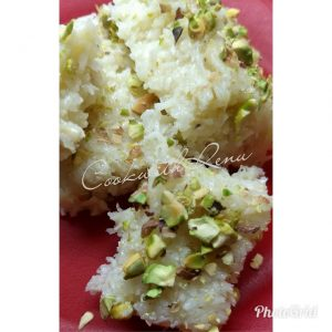Desiccated Coconut Barfi