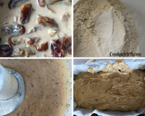 Egg-Less, Sugar-Less, Butter-Less Dates & Walnut Cake