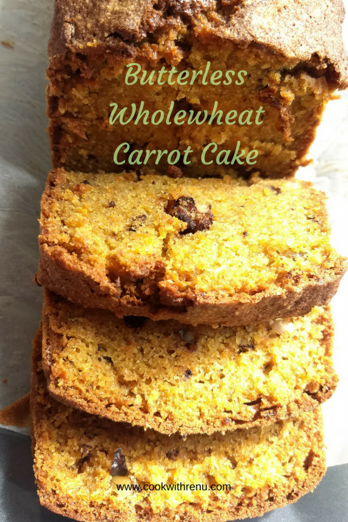 Wholewheat Carrot Cake