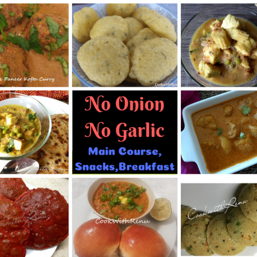 Collection of No Onion No Garlic Recipes