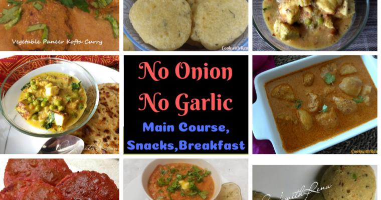 Collection of No Onion No Garlic Recipes