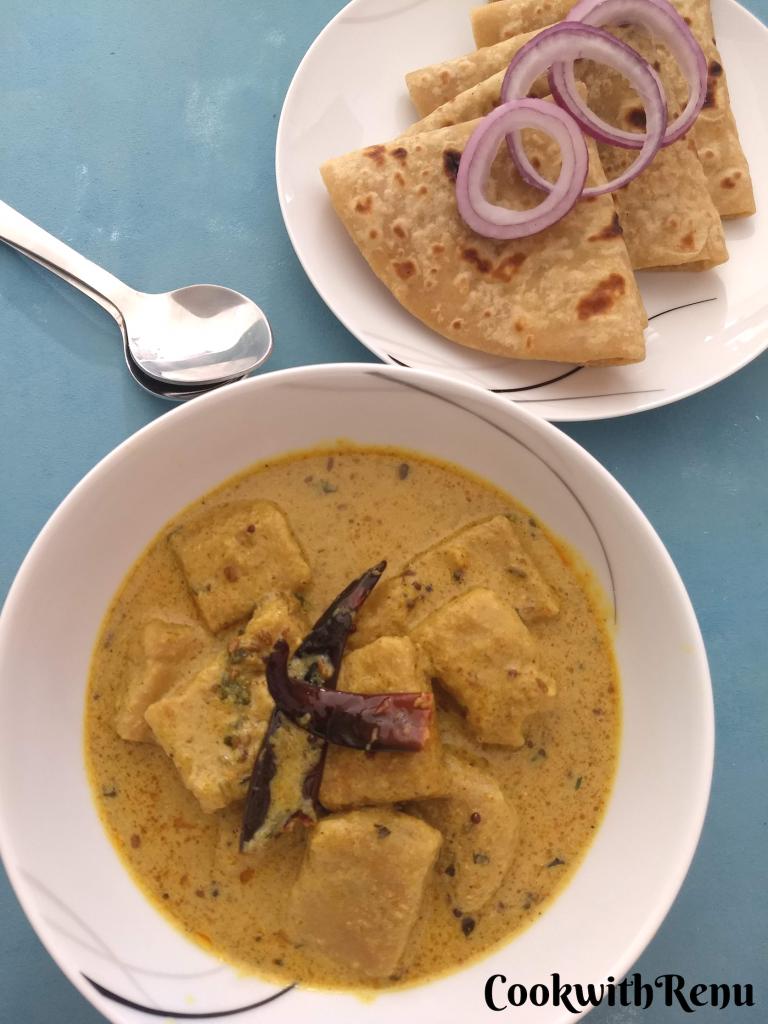 Chakki ki Sabji | Ate ki Sabji (Tangy and spicy gravy with Whole wheat flour Dumplings)