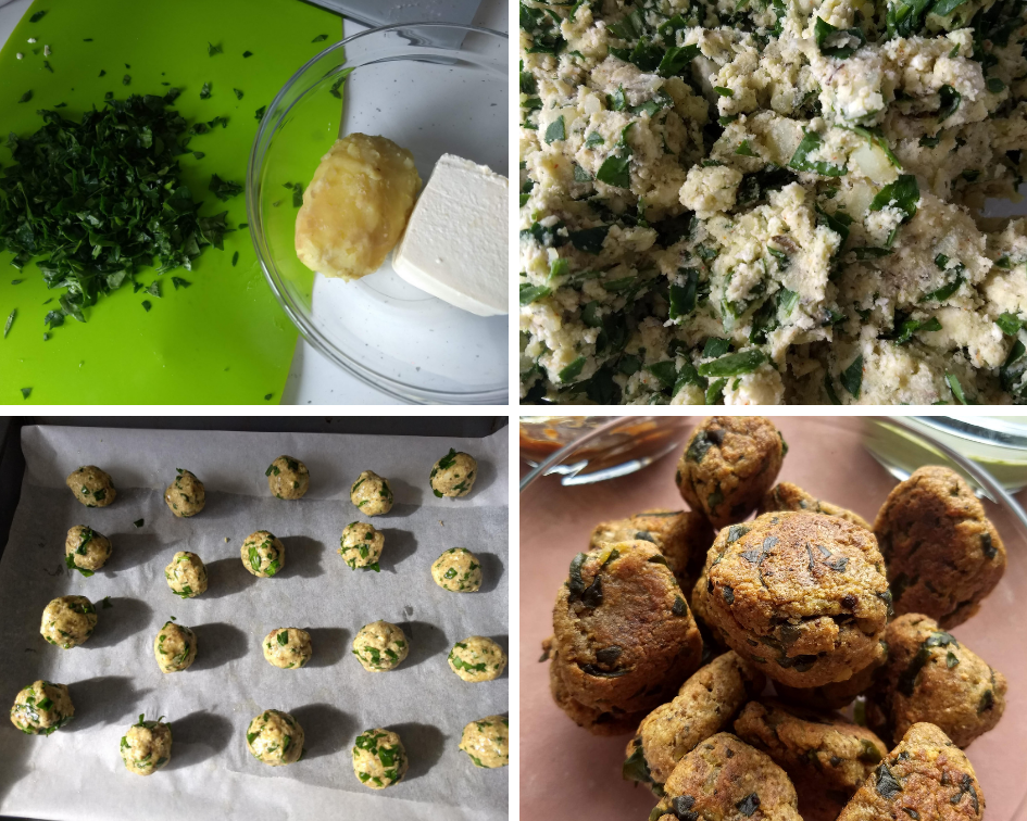 Nutty Spinach , Potato & Paneer Balls
