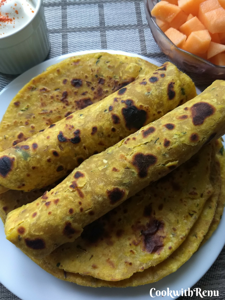 Zucchini Paratha/Thepla