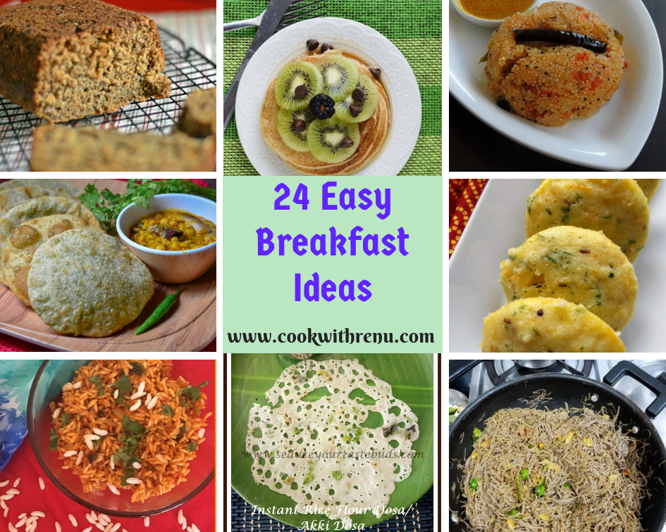 Round Up Of 24 Easy Breakfast Ideas Cook With Renu