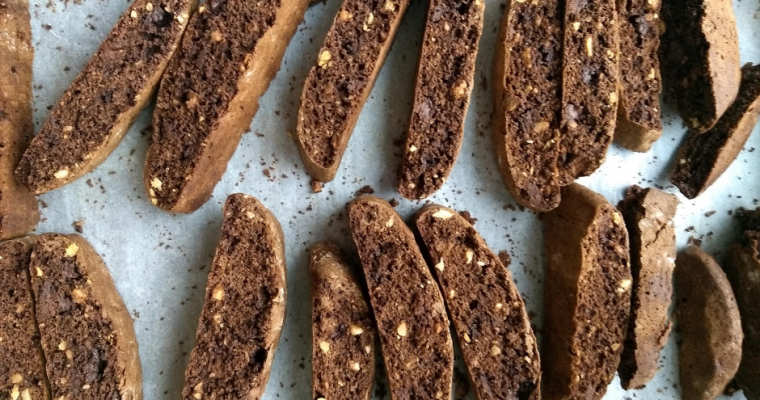 Chocolate Hazelnut Biscotti ~ A perfect Christmas Treat