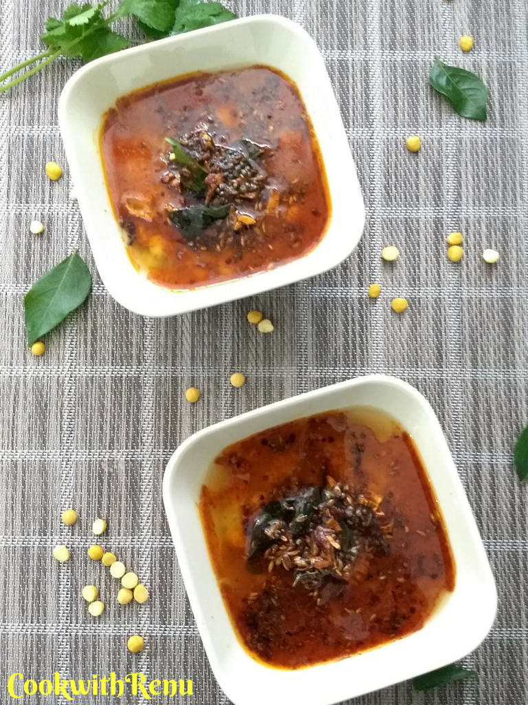 Chana Dal Chataka | Spicy Split Chickpeas Gravy~Soup