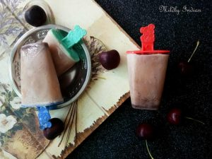 Red bean and Cherry ice blocks