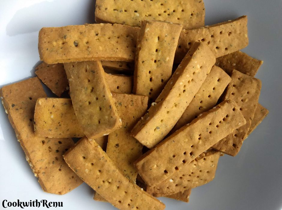 Baked Chickpea Crackers