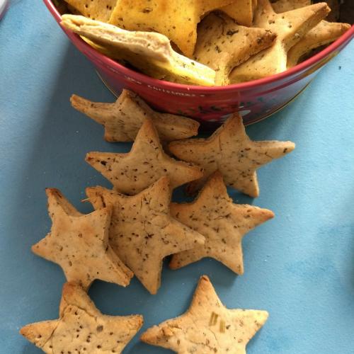 Baked Whole wheat Methi Matri (Fenugreek Crackers)