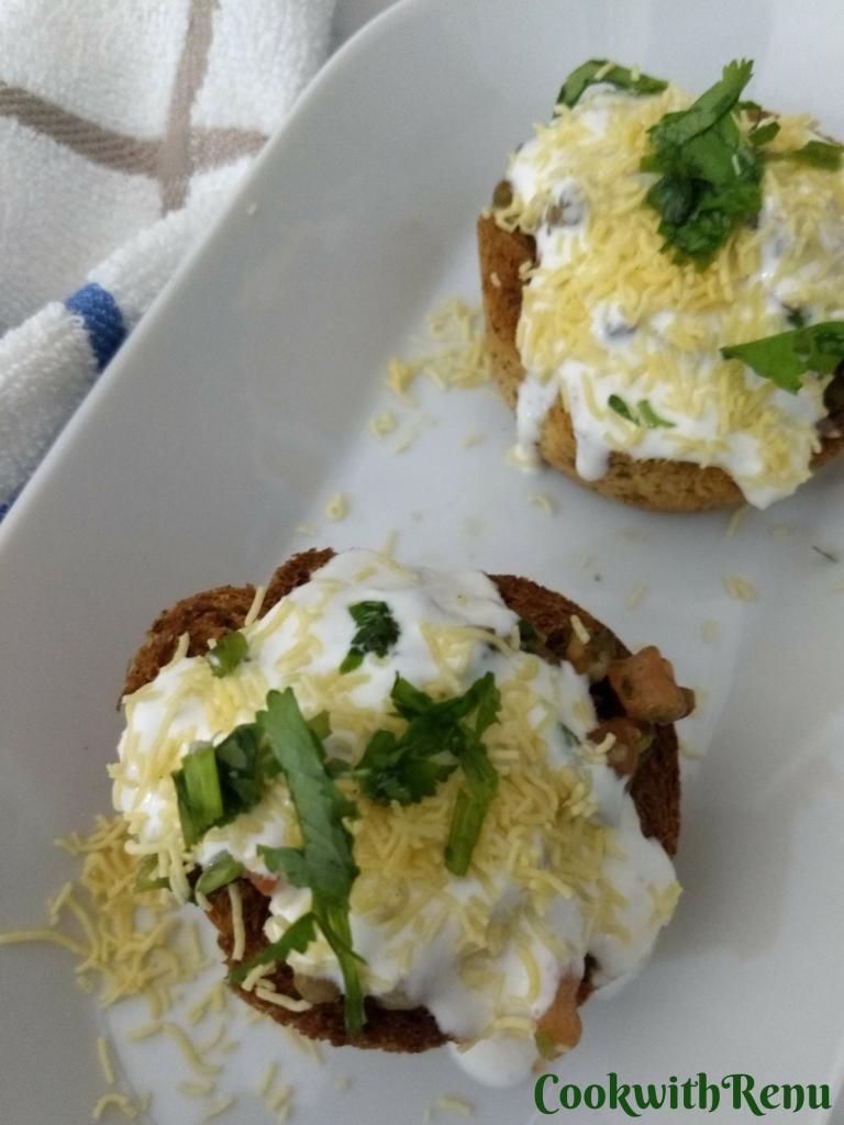 Baked Bread Katori Chaat