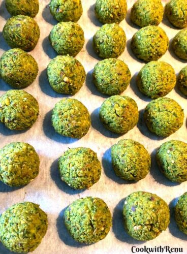 Falafel Balls Ready to be baked