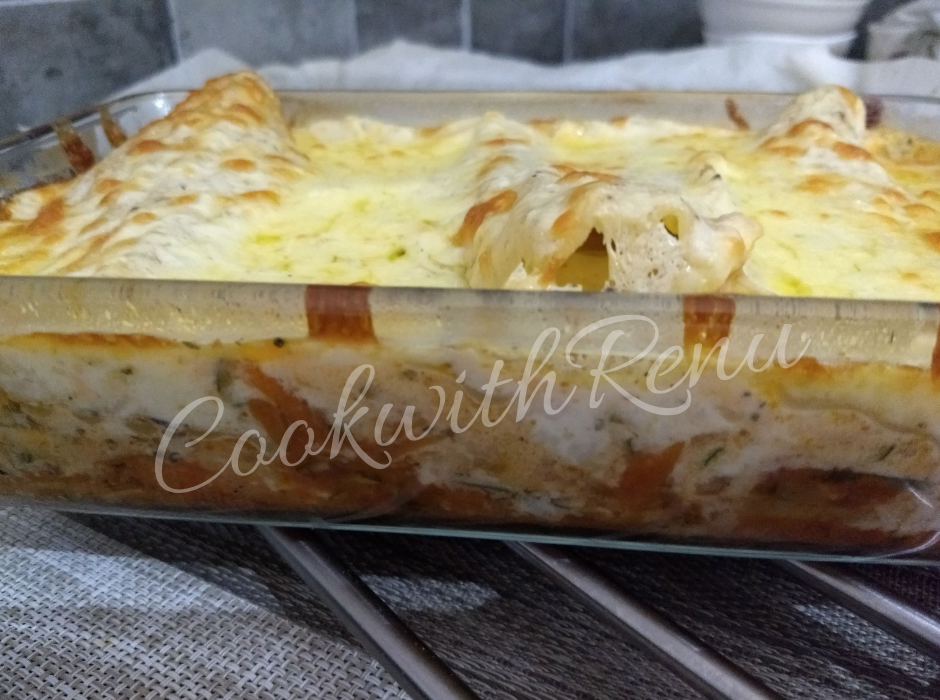 Homemade Vegetable Lasagne