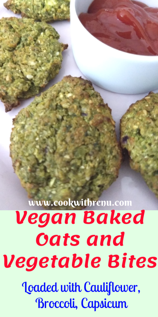Vegan Baked Oats and Vegetable Bites - This Vegan Baked Oats and Vegetable bites are loaded with low carb vegetables like Broccoli and cauliflower and serves as a perfect appetizer or finger food.