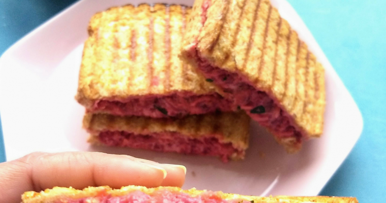 Beetroot and Carrot Yogurt Sandwich