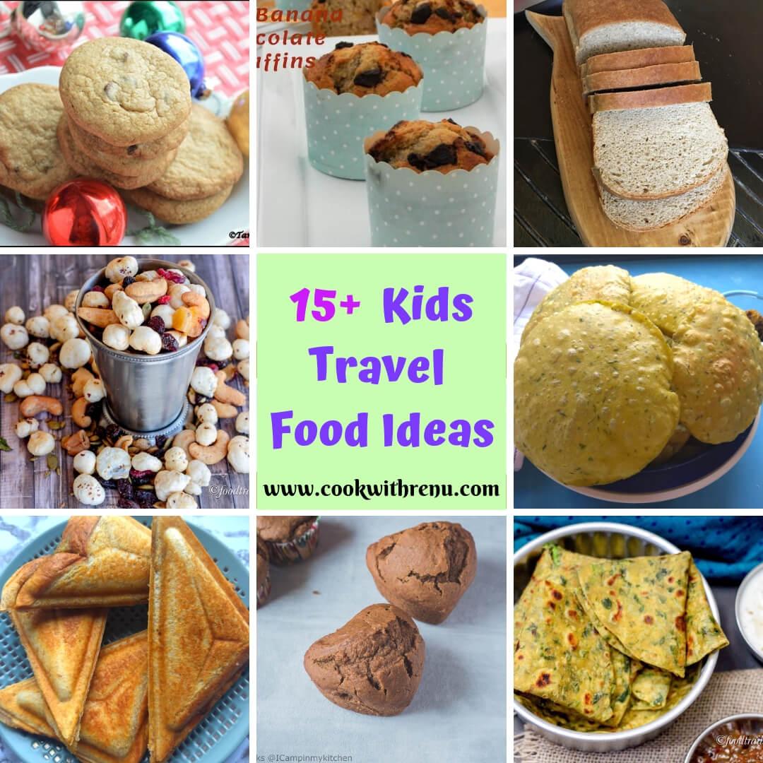 15+ Kids Travel Food Ideas | 15+ Easy Travel Snacks for Kids