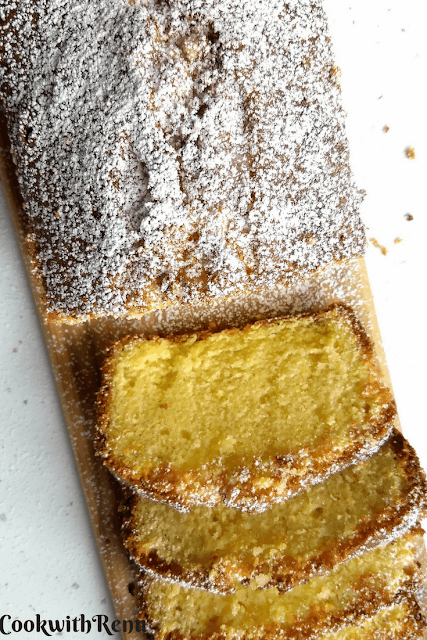 Lemon Cake without Leavening Agent (No Baking Powder, No Baking Soda)