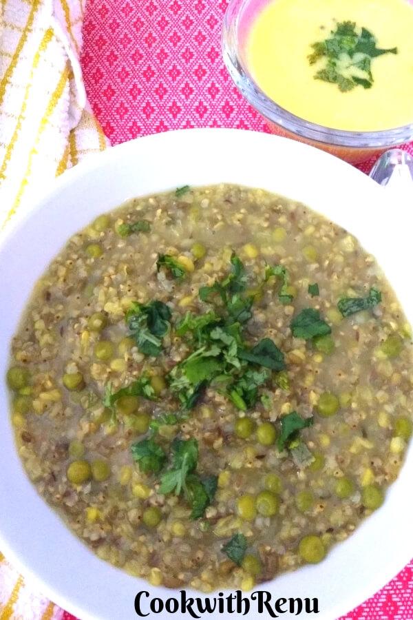 Bajra and Split Green Moong Dal Khichdi