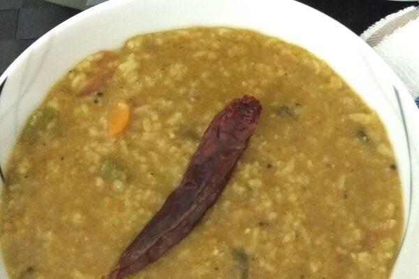 Karnataka Style Bisi bele bath   Hot Lentil Rice