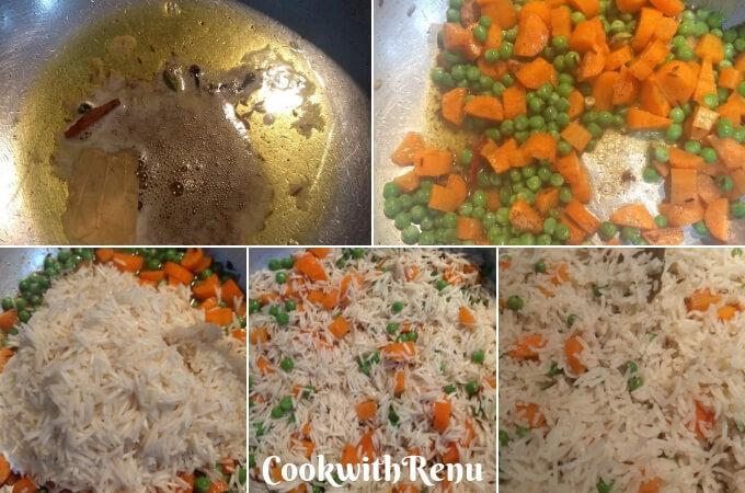 Carrot and Peas Pulao