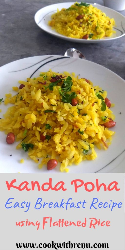 Kanda Poha is a quick and easy popular breakfast recipes which can be made in 10-15 minutes, from the state of Maharashtra, made using flattened rice.