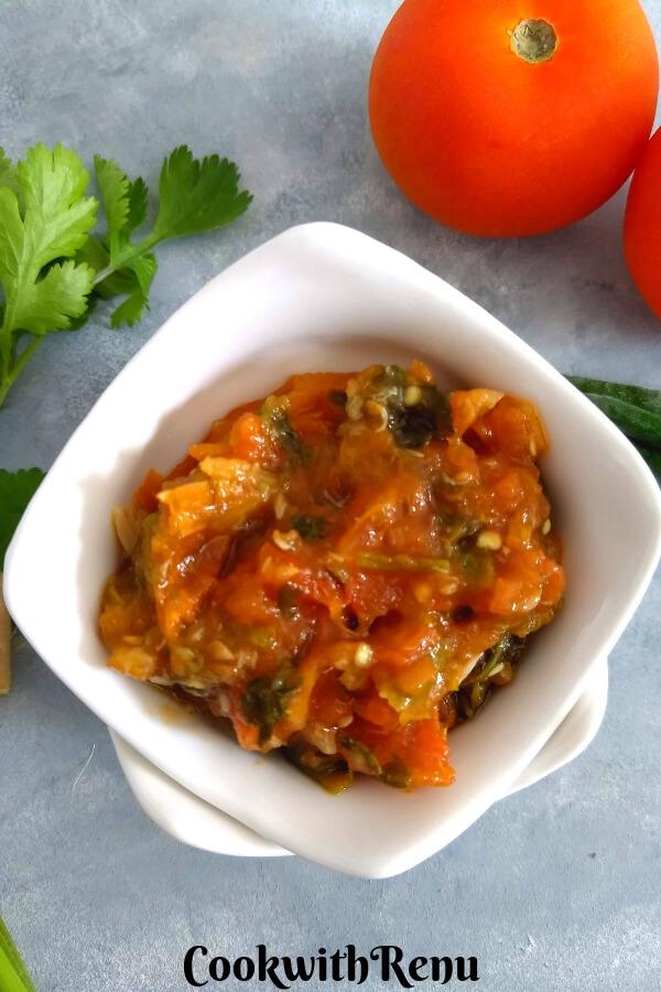 No Oil Tomato Chutney from Nagaland