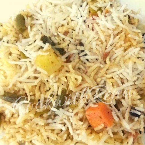 Simple Vegetable Biryani (No onion No Garlic)