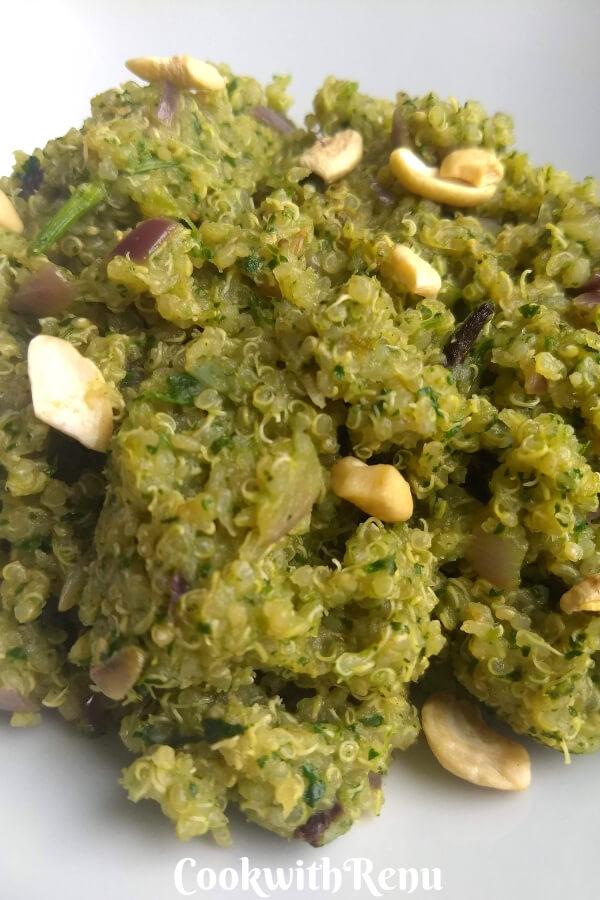 Spicy Mint and Coriander Quinoa Pulao