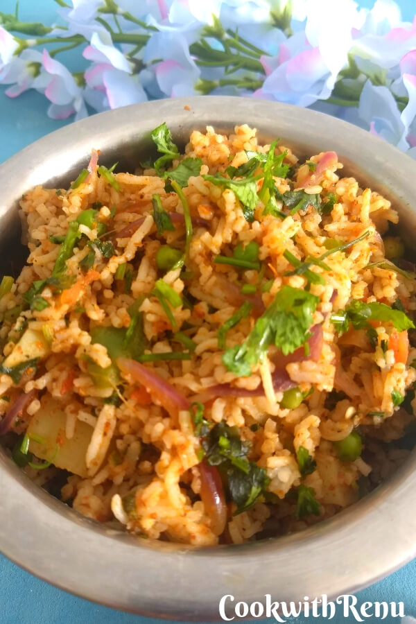 Mumbai style Tawa Pulao using leftover rice