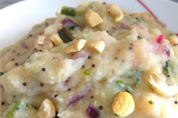 Rava Upma (Savory Porridge made from Semolina)