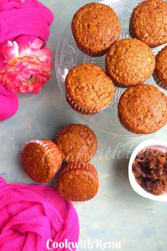 Eggless Gulkand Muffins | Edible Rose Petal Jam