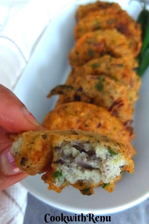Black-eyed Pea Fritters | Chawali | Lobia Vada