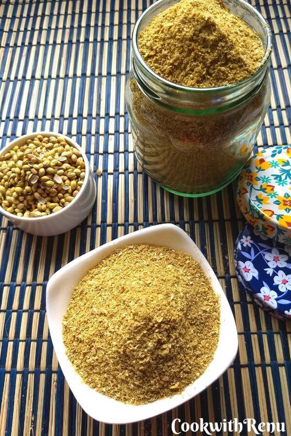 Homemade Coriander Powder with a Twist | Dhania Powder