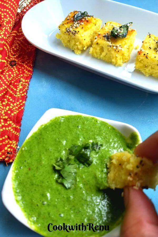 Soft and spongy this Instant Khaman Dhokla can be done in under 30 minutes and is a perfect vegan Breakfast or a snack.