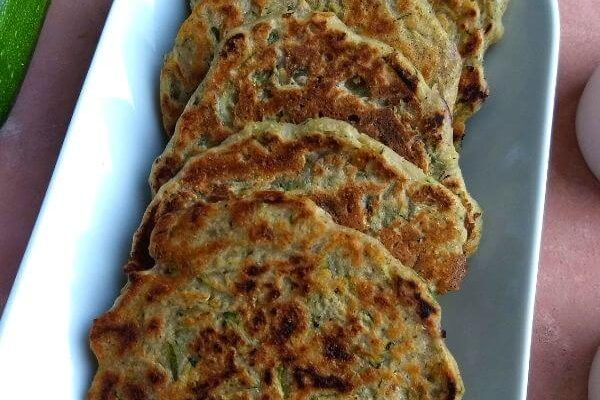Zucchini/Courgette Fritters (mini Pan Cakes)