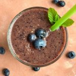This 5 ingredient Blueberry Banana smoothie is a refreshing breakfast or a mid morning snack or a post workout treat packed with antioxidants.