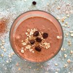 Sugarless Cacao Oats Breakfast Smoothie