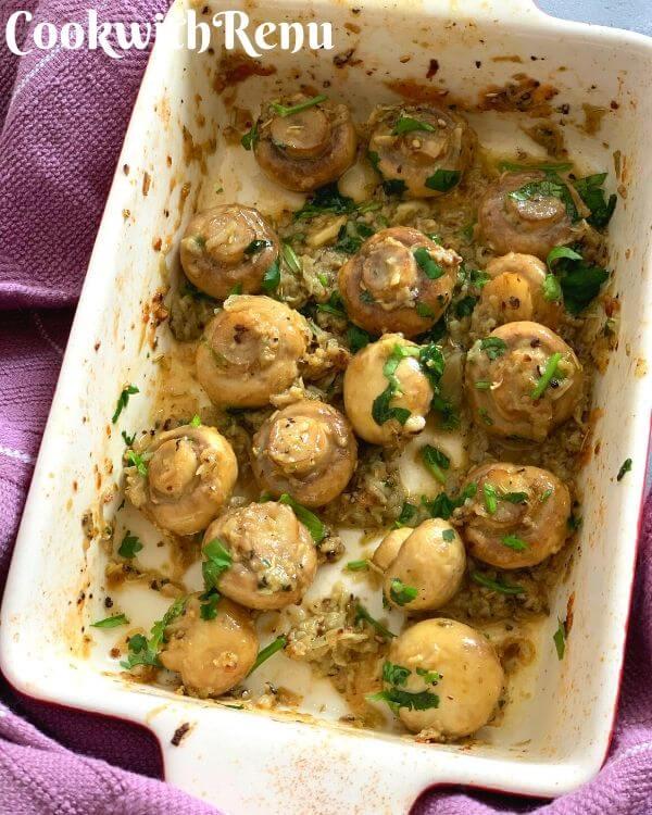 Roasted Garlic and Herb Mushrooms