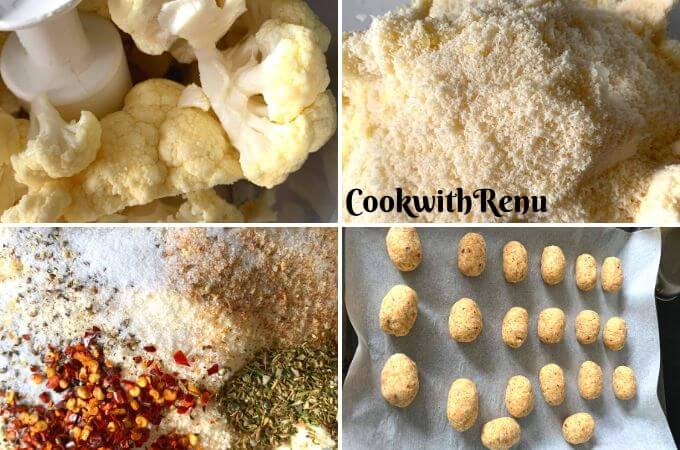 Making of Baked Cauliflower Tots