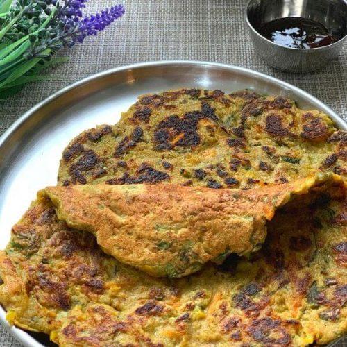 Oats Vegetable Chila (Savory PanCake)