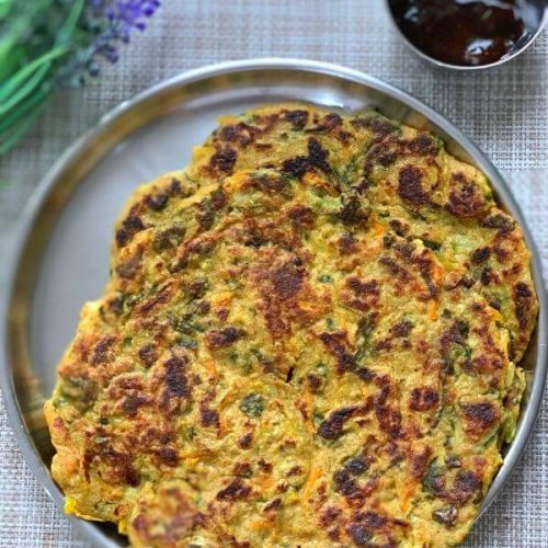 Oats Vegetable Chila (Savory PanCake)