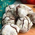 Closer Look of Chocolate Crinkle Cookies